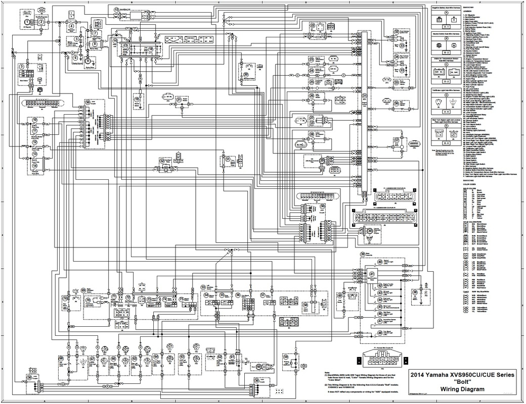 Yamaha V Star 950 Wiring Diagram For Lights Starting Know About Roadstar Caravan 2014 Bolt 31 Images